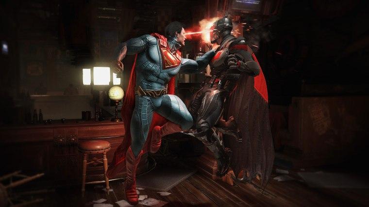 Injustice Bats Supes FIght